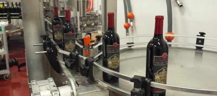 Bottling the new Gervasi Vineyard - Pro Football Hall of Fame Wine
